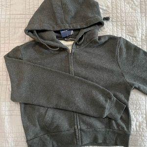 brandy melville grey crystal hoodie